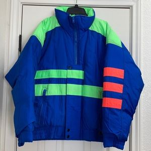 Vintage 90s Peter J Down puffer ski snow jacket